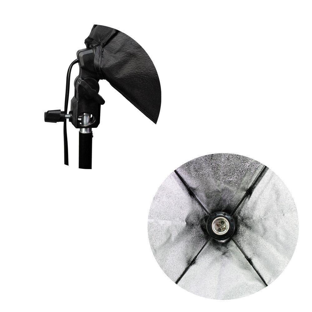 Kit de Iluminação Softbox 50x70cm com Soquete E-27 Embutido e Tripé de 2 metros Sou Foto para Estúdio Fotográfico  - Fotolux