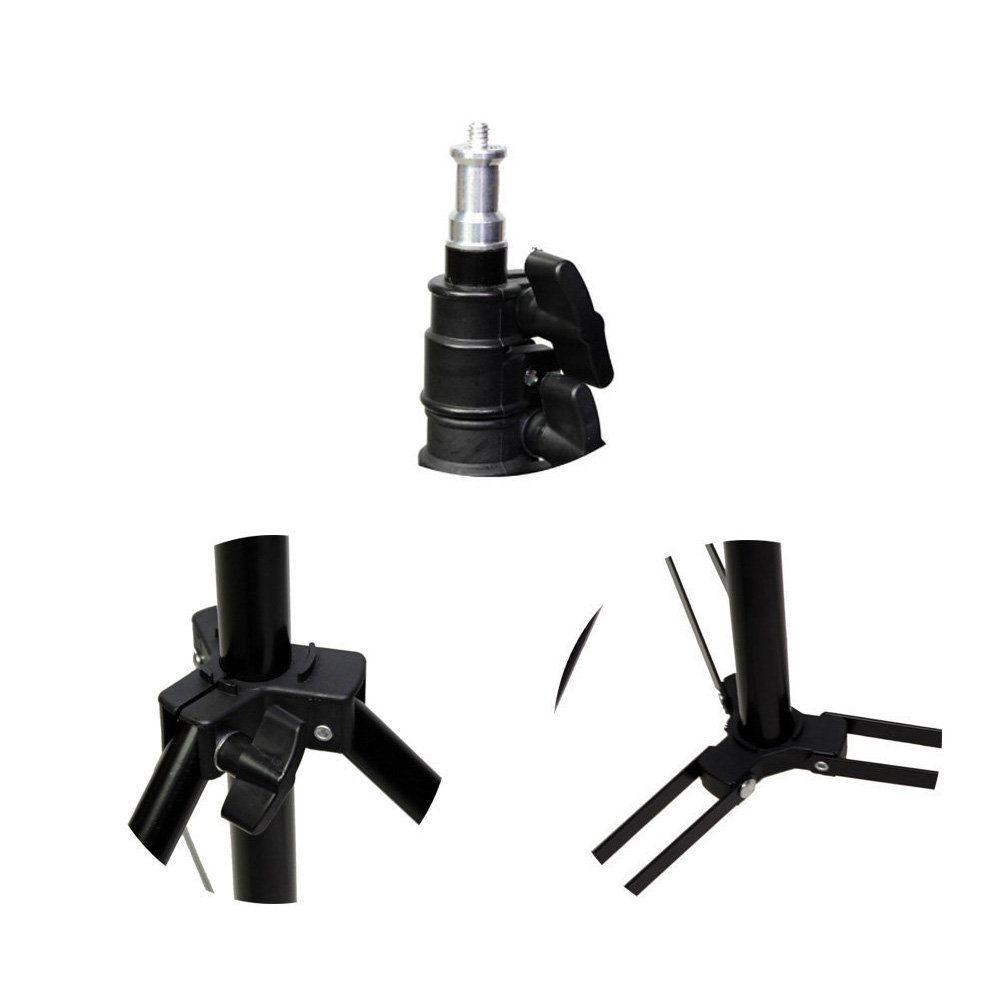 Kit de Iluminação Softbox Octagonal 70cm com Soquete e Tripé 2m para Estúdio Fotográfico