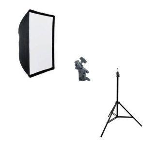 Kit de Iluminação Softbox Universal 50x70cm, Suporte YA422 e Tripé de Iluminação 2m  - Fotolux