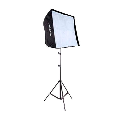 Kit de Iluminação Softbox Universal 60x60cm, Soquete Simples E-27 e Tripé 2m  - Fotolux
