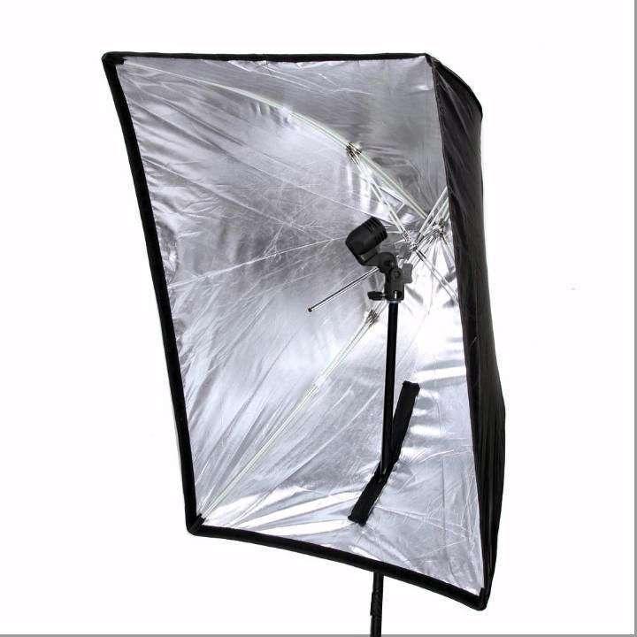 Kit de Iluminação Softbox Universal 60x90cm, Soquete Simples E-27 e Tripé 2m  - Fotolux
