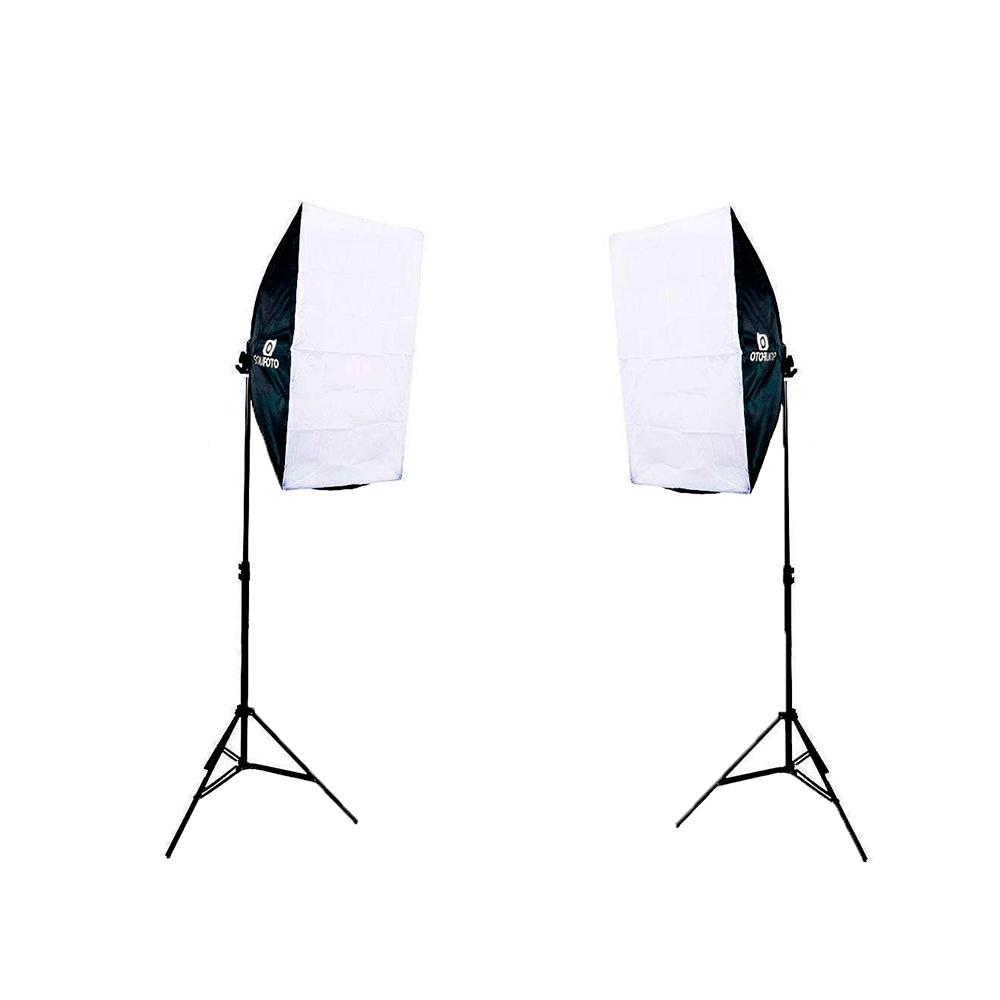 Kit de Iluminação para Fotografia Softbox Vareta 50x70cm, Tripés, Braço Girafa e Bolsa  - Fotolux