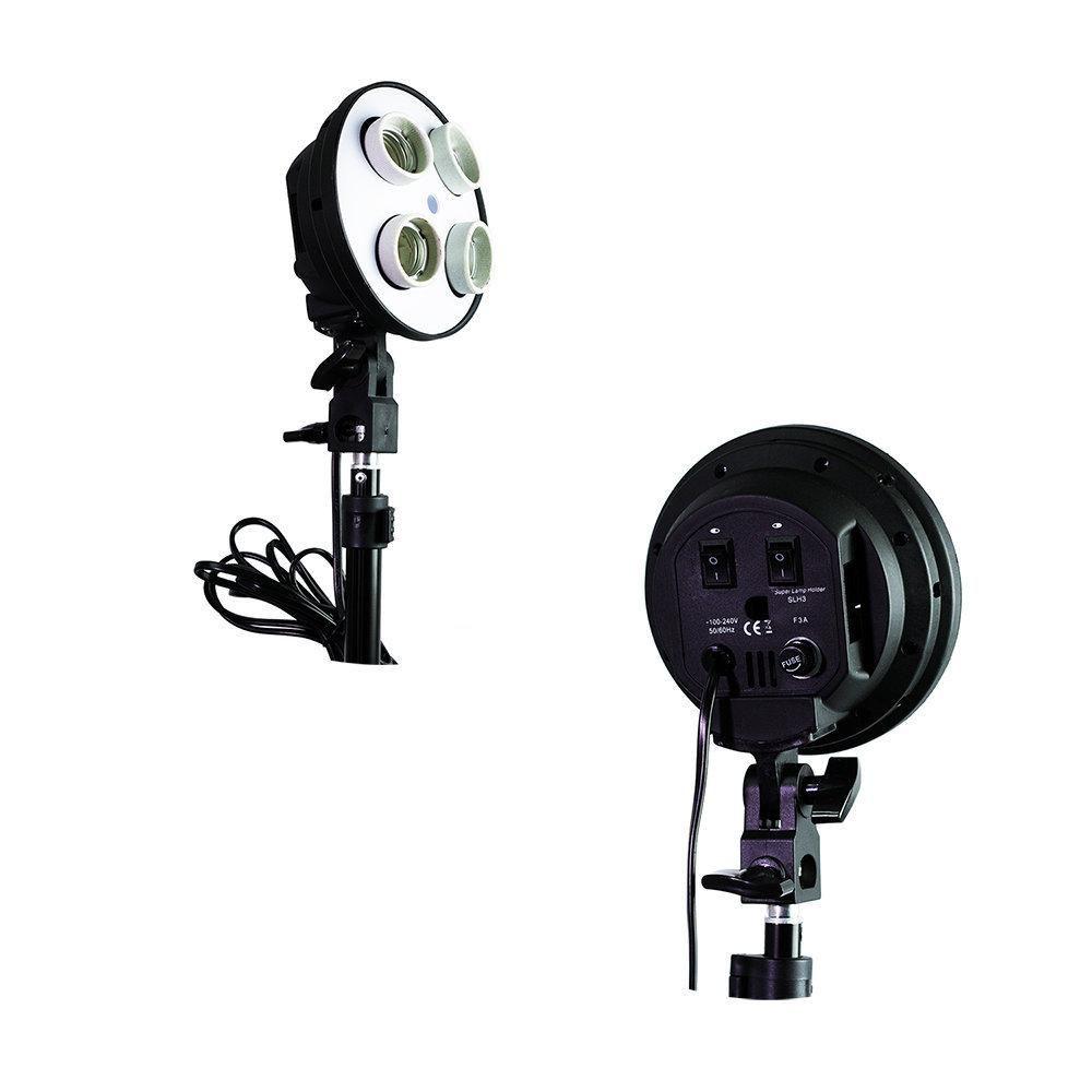 Kit de Iluminação Softbox Vareta 50x70cm Quádruplo Sou Foto SBQ-50x70 e Tripé 2m para Estúdio Fotográfico  - Fotolux