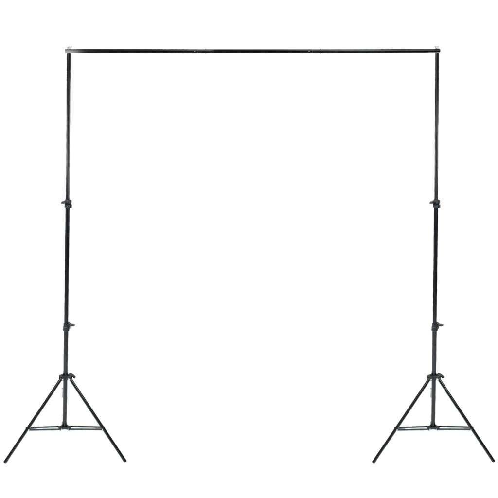 Kit de Suporte para Fundo Infinito SFI-222 + Fundo Infinito Oxford Preto 2m x 2,8m  - Fotolux