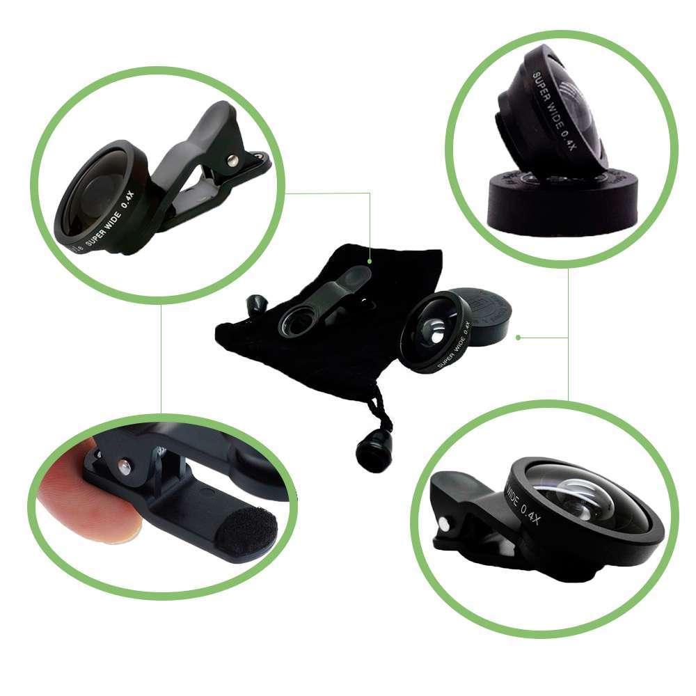Kit de Tripé de Câmera 450CS com Suporte para Celular e Lente Super Wide Greika para Fotos e Vídeos  - Fotolux