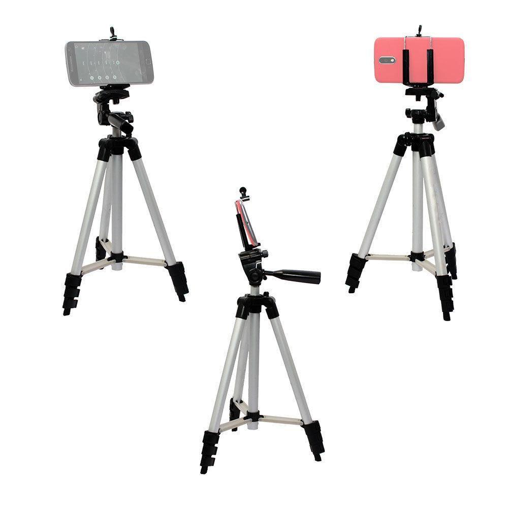 Kit de Tripé Nest KT-3111 com 106cm de Altura e Suporte de Celular Universal para Foto e Vídeo  - Fotolux