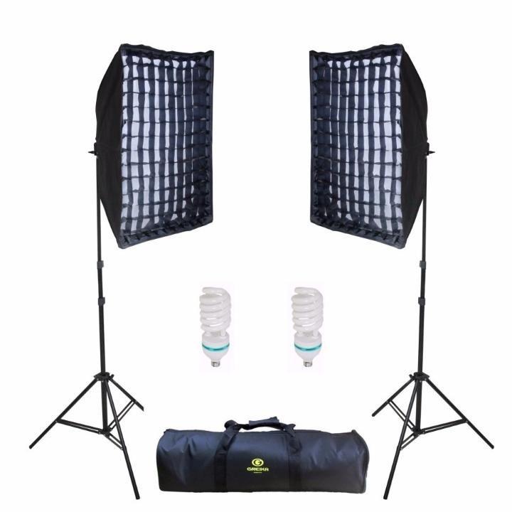 Kit Iluminação Contínua Estúdio Àgata II 50x70cm com Grid