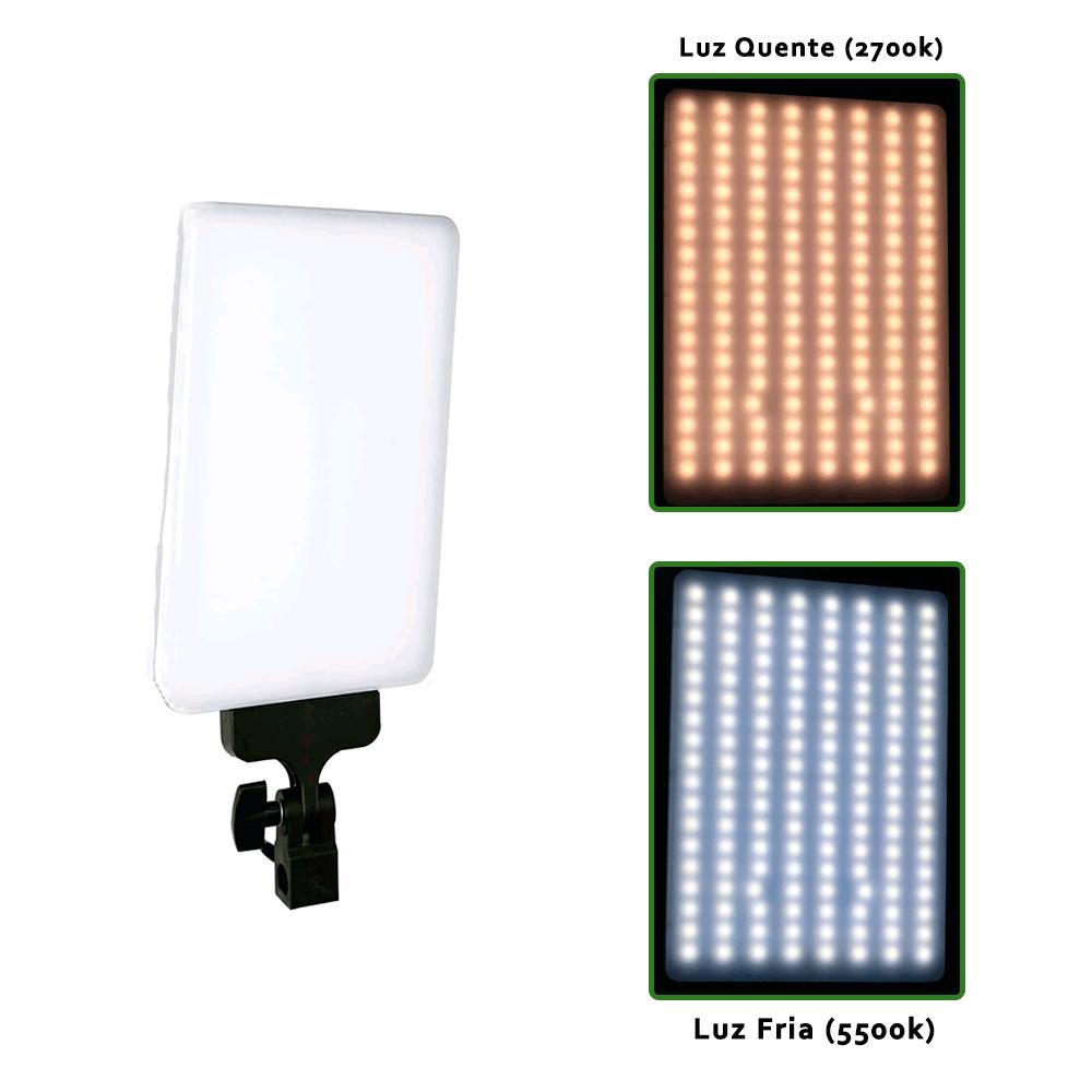 Kit Iluminação Duplo com LED 530C 30W e Tripé de 2m para Foto e Vídeo  - Fotolux