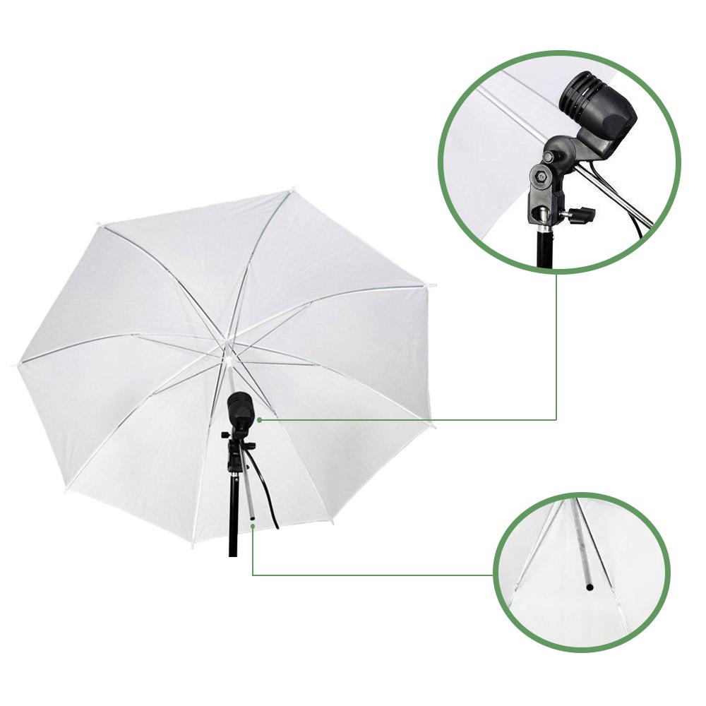 Kit de Iluminação com Sombrinha Difusora e Tripé com Braço Girafa Sou Foto para Estúdio Fotográfico  - Fotolux