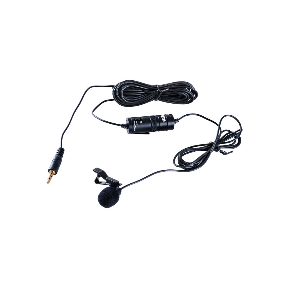 Kit Microfone de Lapela BOYA BY-M1 com Mini Tripé Greika WT-04 para Gravação de Vídeo  - Fotolux