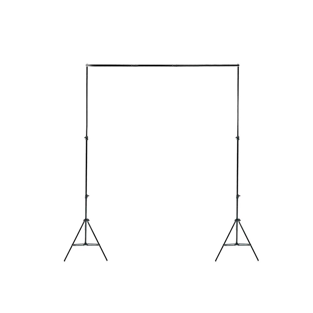 Kit para Estúdio Fotográfico com Suporte 2x2m, Tecido Cinza 1,5 x 2m e Grampos  - Fotolux