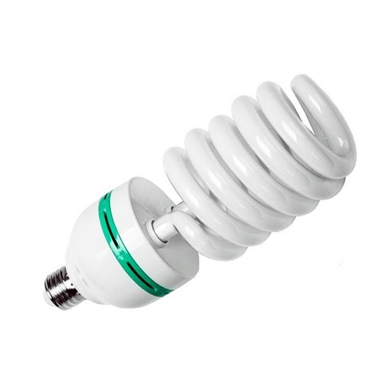 Lâmpada Fluorescente Espiral 150 Watts 5500K para Estúdio Fotográfico