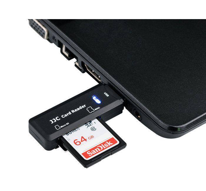 Leitor de Cartão de Memória JJC CR-SDMSD1 para Cartões SD e Micro SD  - Fotolux