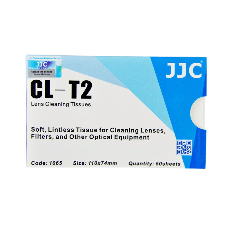 Lenço de Papel JJC CL-T2 para Limpeza de Lentes Fotográficas e Óticas em Geral  - Fotolux