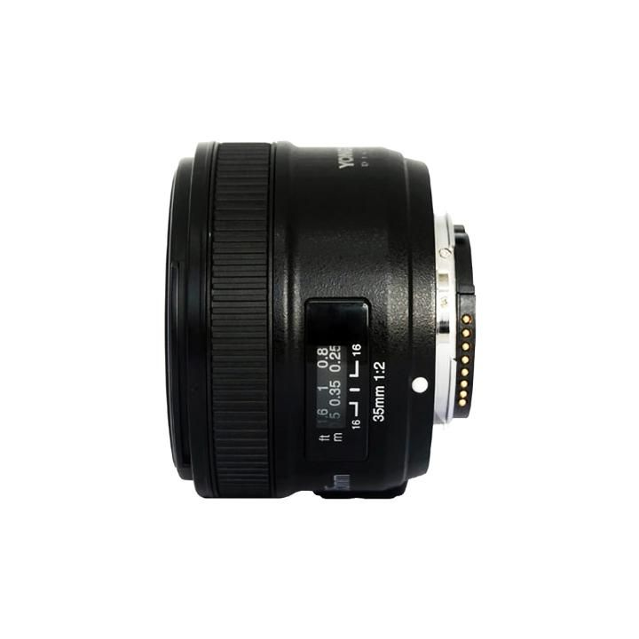 Lente Grande Angular Yongnuo YN35mm F2N para Nikon