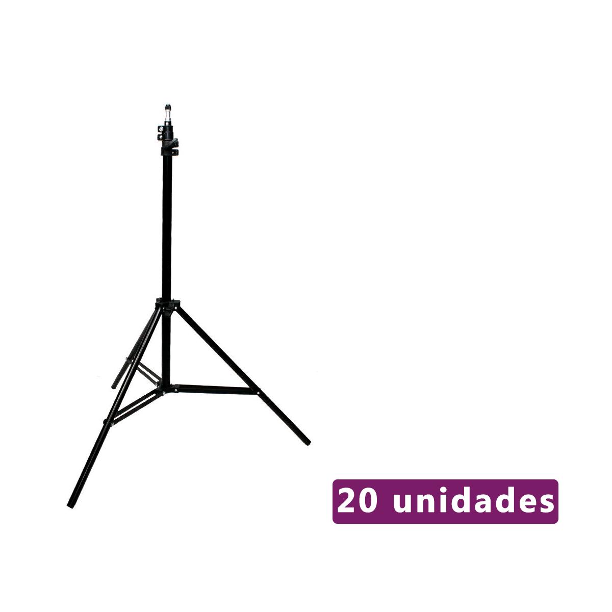 Lote com 20 Unidades de Tripés de Iluminação 2m Sou Foto TPI-200 para Equipamentos Fotográficos  - Fotolux
