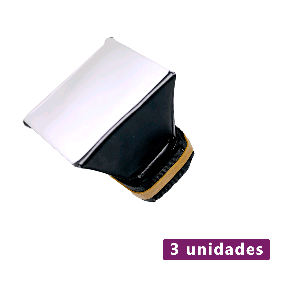 Lote com 3 unidades de Mini Softbox Difusor para Flash Speedlite Sou Foto MSF-001  - Fotolux