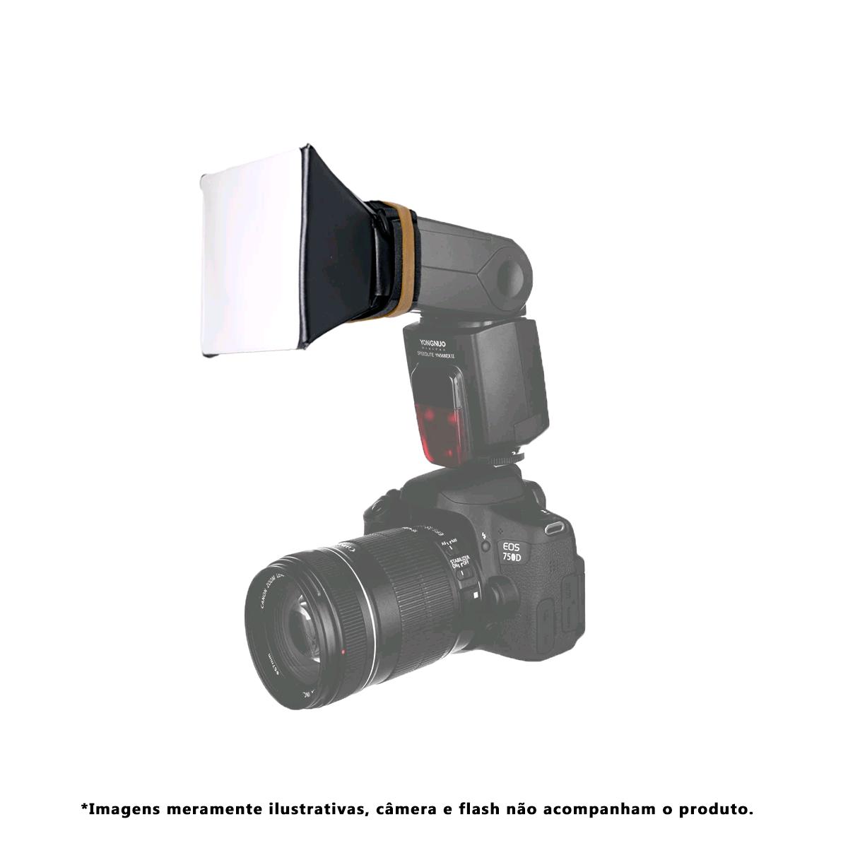 Lote com 5 unidades de Mini Softbox Difusor para Flash Speedlite Sou Foto MSF-001  - Fotolux