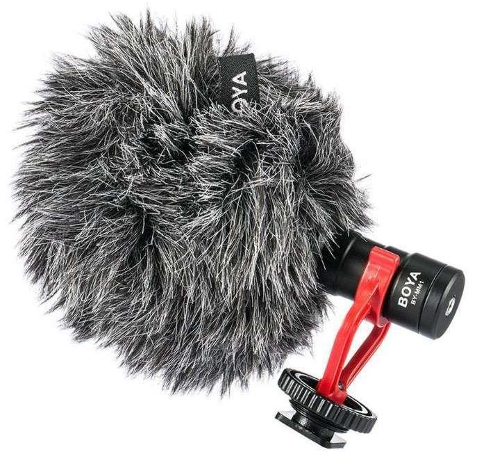 Microfone Cardioide Boya BY-MM1 para Câmera e Celular