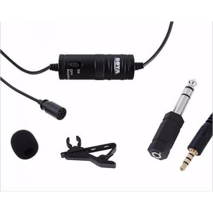 Microfone de Lapela Boya BY-M1 para Câmeras DSLR e Filmadoras