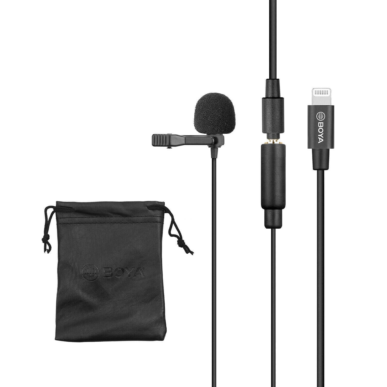 Microfone de Lapela para Iphone BOYA BY-M2 para Gravação de Áudio e Vídeo  - Fotolux
