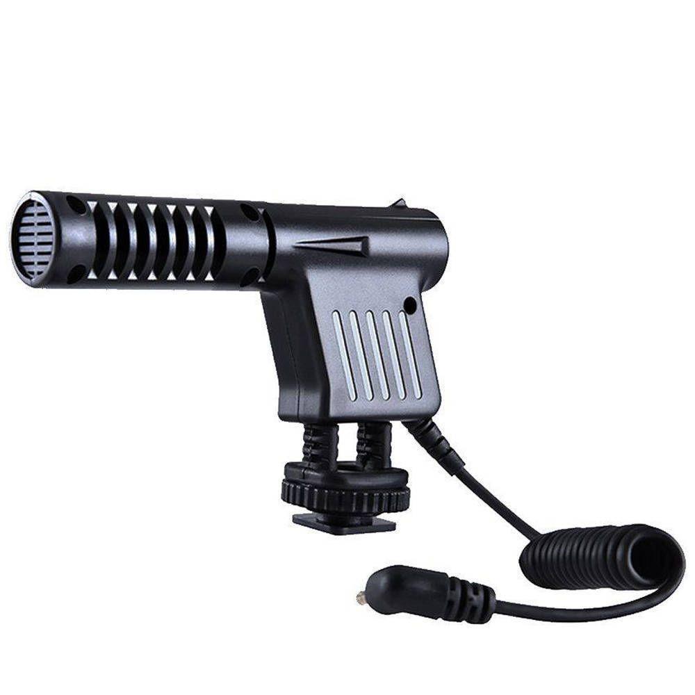 Microfone Direcional Condensador Boya BY-VM01 para Câmeras e Filmadoras