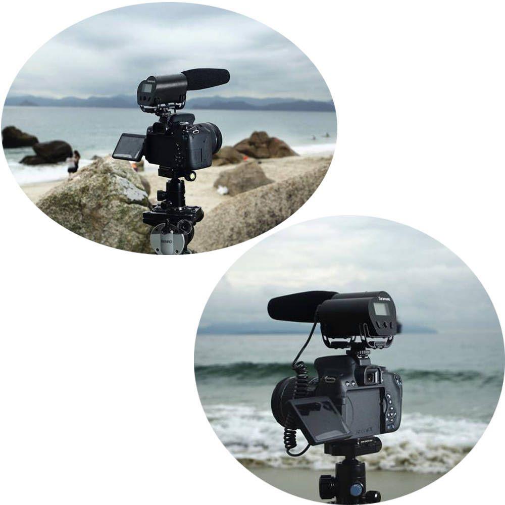 Microfone Direcional Condensador Saramonic Vmic Recorder para Câmera DSLR