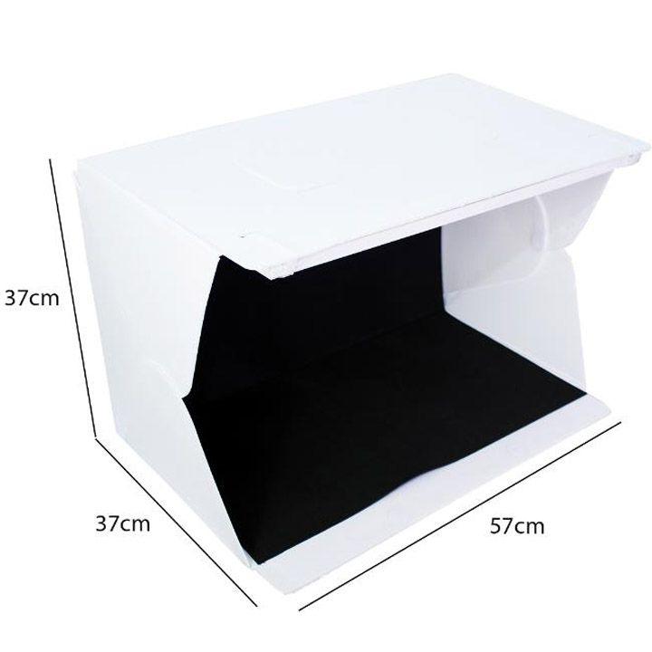 Mini Estúdio Fotográfico Portátil Evobox de 58cm de Comprimento com Iluminação LED para Foto Still