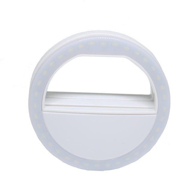 Mini Iluminador de Led Ring Light 8cm Greika MPLED-8 para Celular Smartphone  - Fotolux