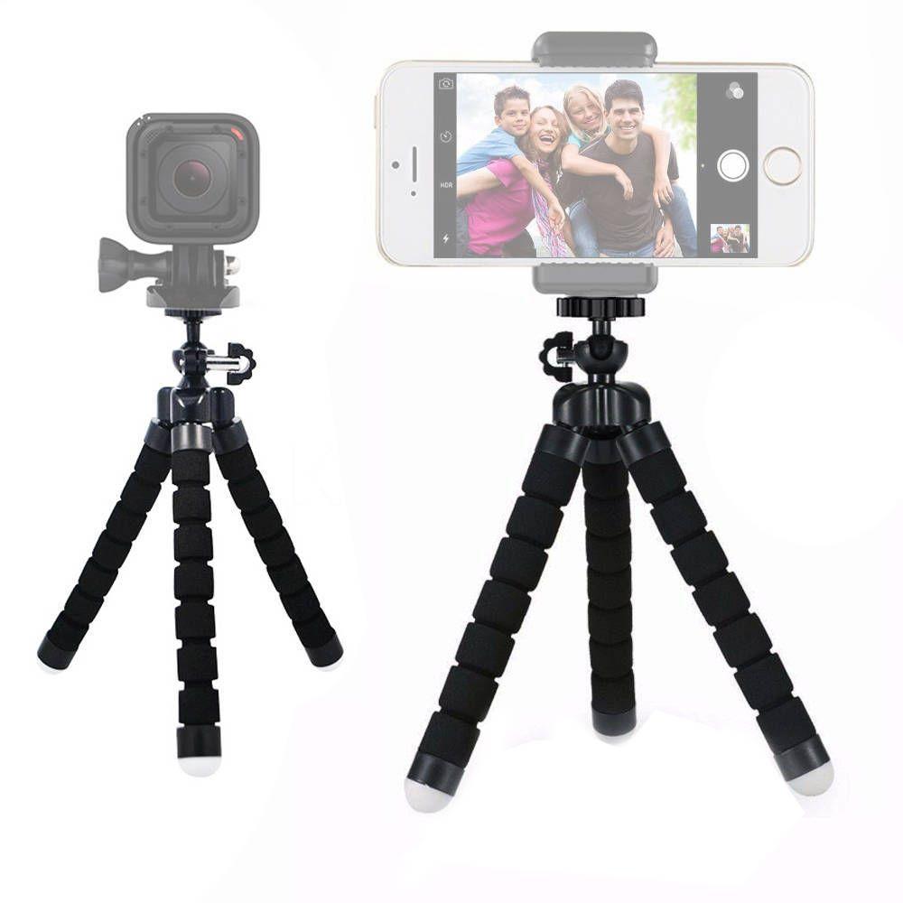 Mini Tripé 18cm Selfie Flexi Pod para Câmera e Web Cam