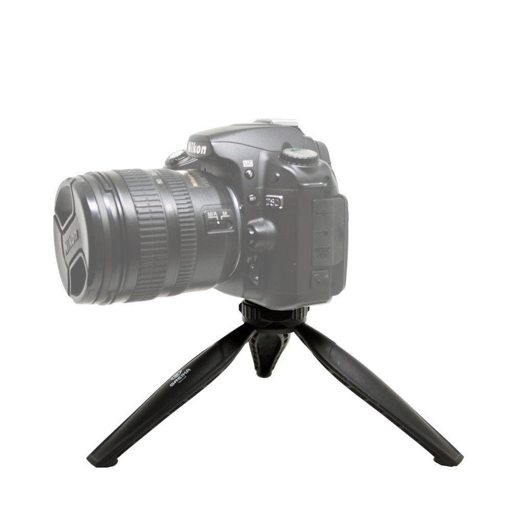 Mini Tripé 2 em 1 Greika WT-04 para Câmeras, Celulares e Tablets