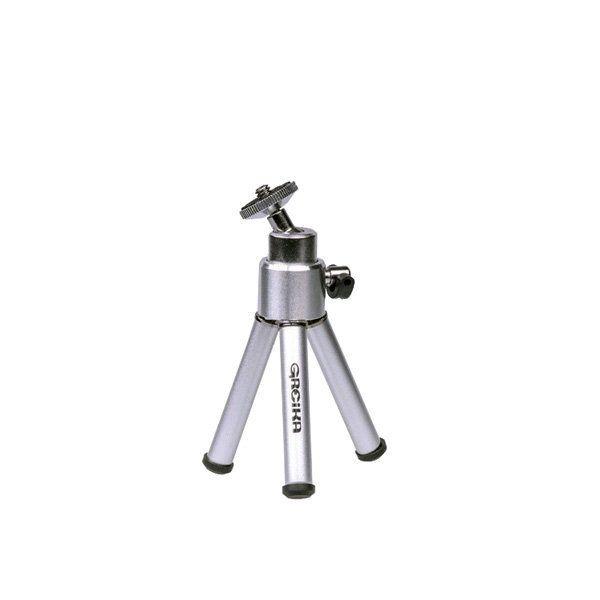 Mini Tripé de 21cm Greika WT-0551 para Câmera Compacta e Web Cam  - Fotolux