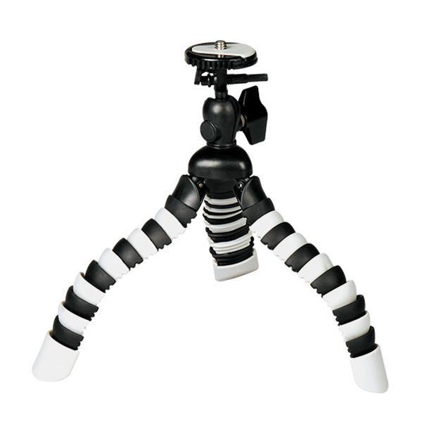 Mini Tripé Flexível Beis SM-852 para Câmeras Compactas e Smartphones