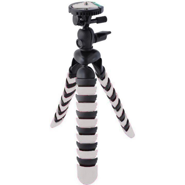 Mini Tripé Flexível Beis SM-853 para Câmeras Compactas e Smartphones