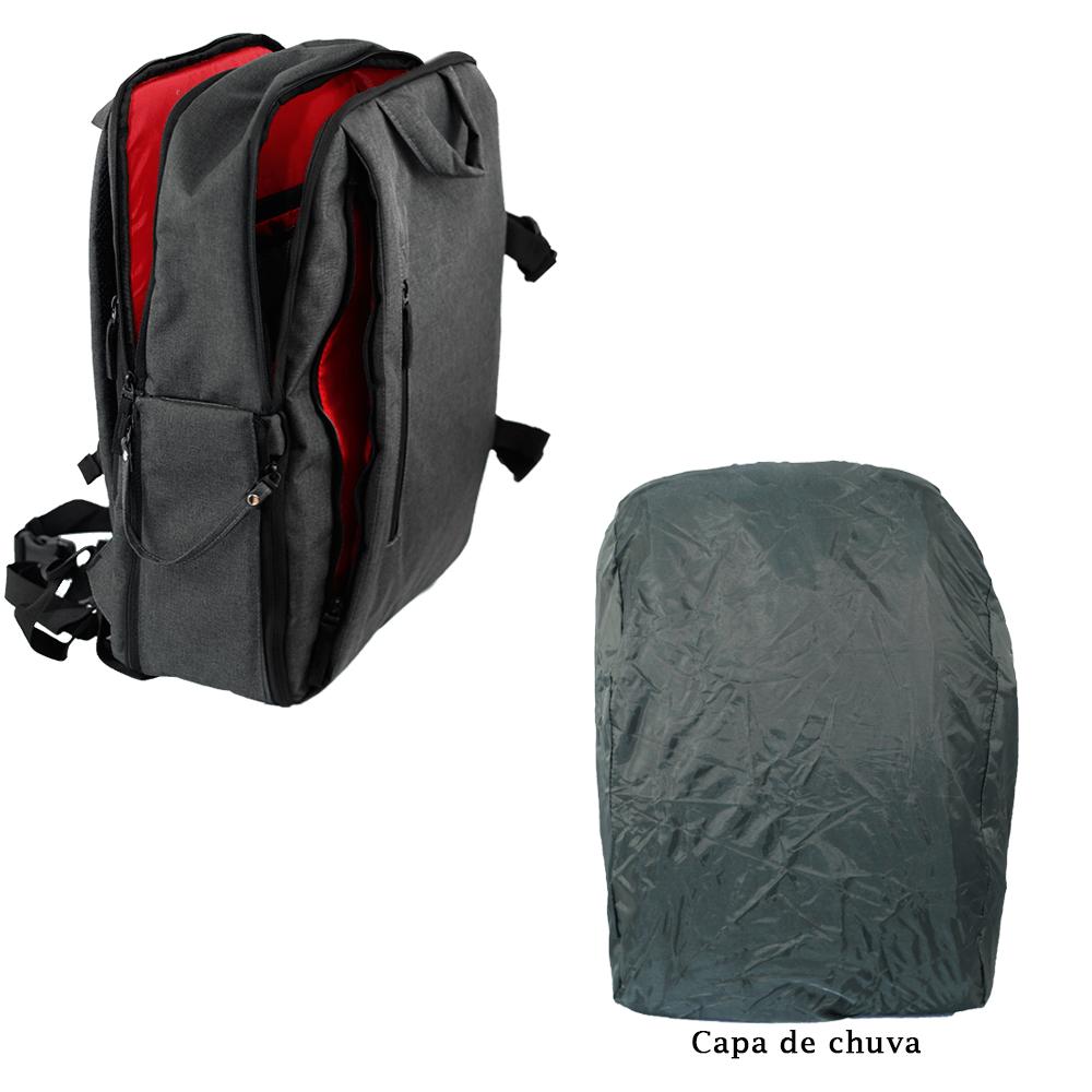Mochila Fotográfica para Câmera, Notebook e Acessórios Easy EC-8888  - Fotolux