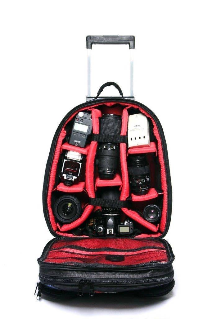 Mochila para Câmera Fotográfica West New Car com Alça e Rodinhas  - Fotolux