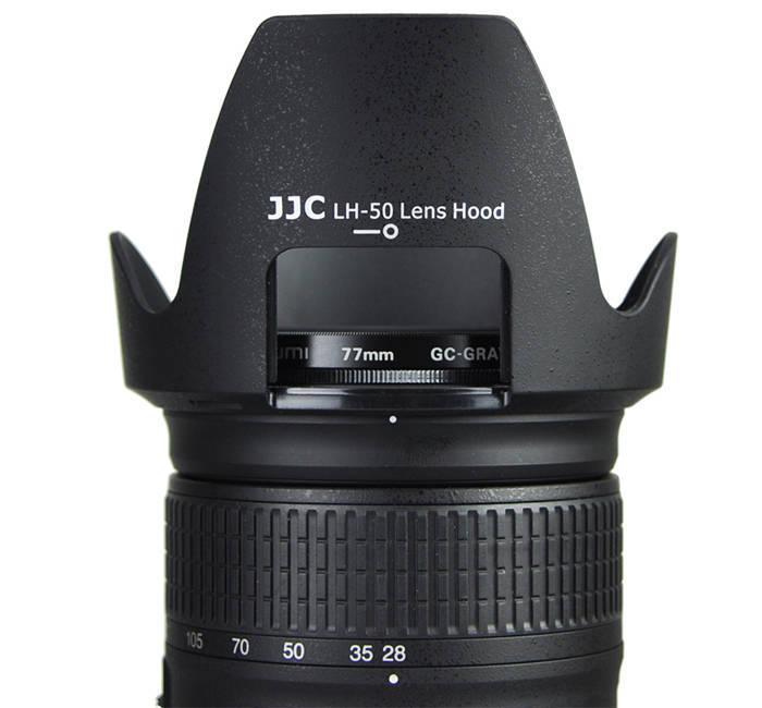 Parasol JJC LH-50 para Lente Objetiva Nikon 28-300mm