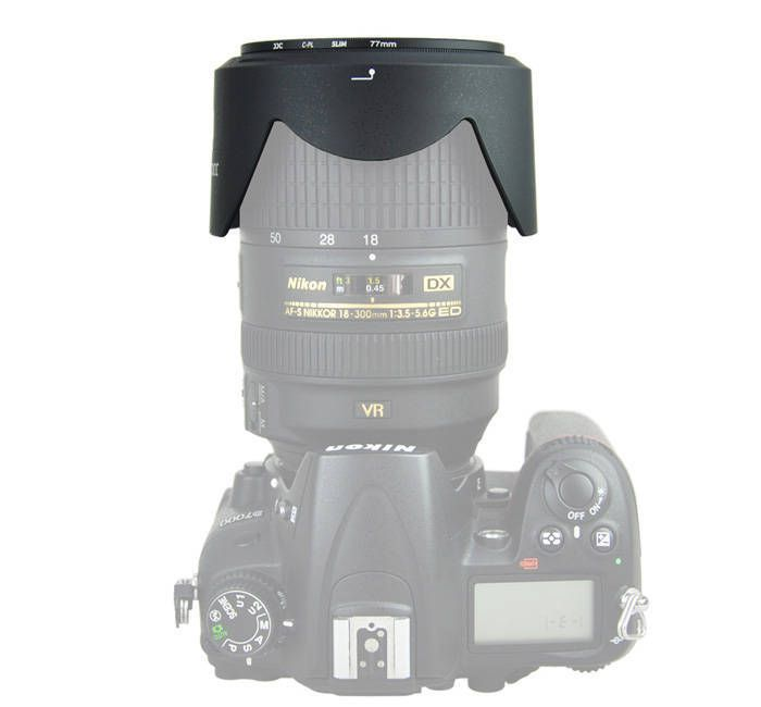 Parasol JJC LH-58 para Lente Objetiva Nikon 18-300mm