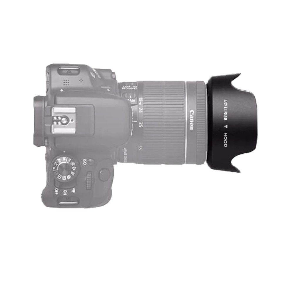 Parasol Tulipa 58mm para Câmeras Fotográficas  - Fotolux