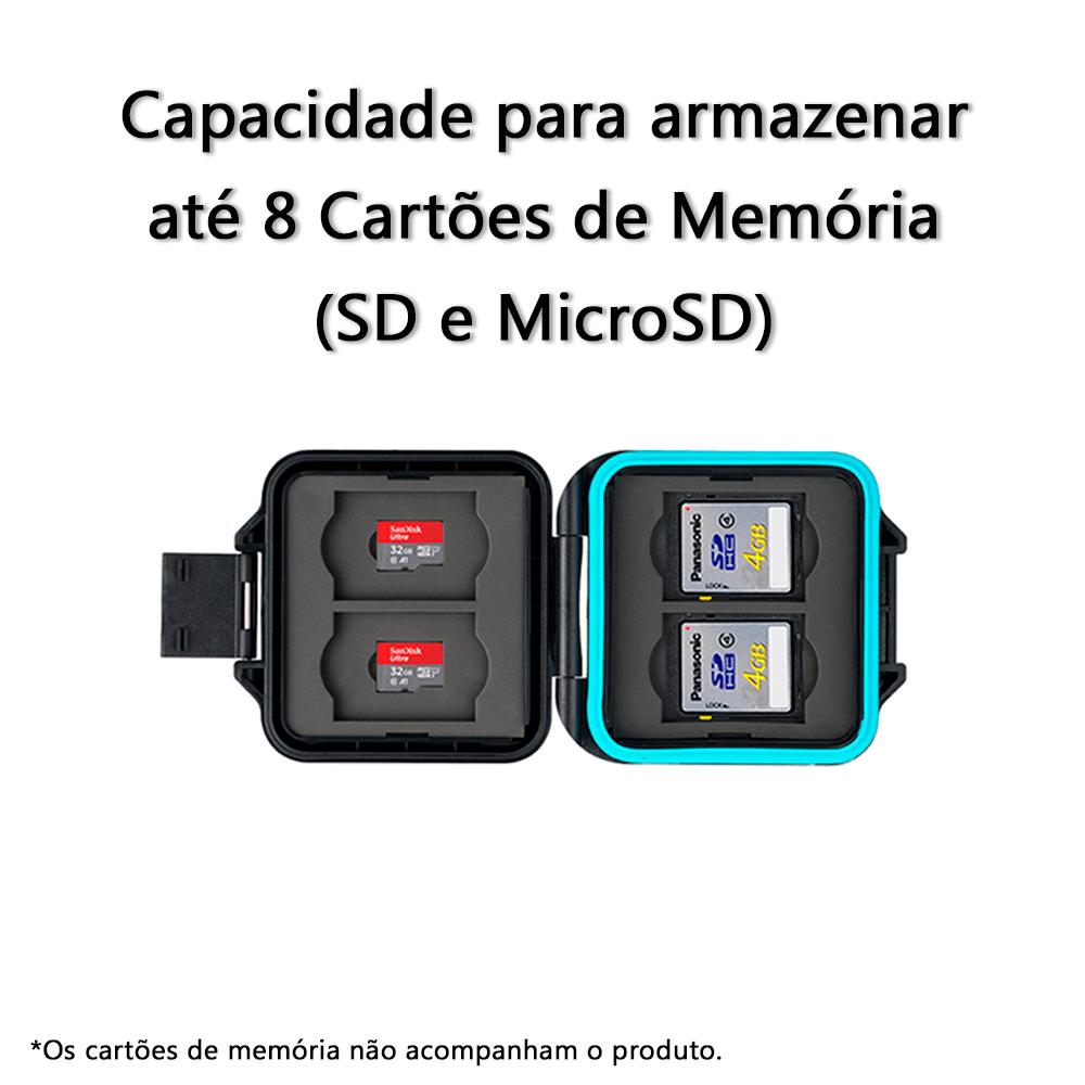 Porta Cartão de Memória SD ou MicroSD JJC MCR-ST8  - Fotolux