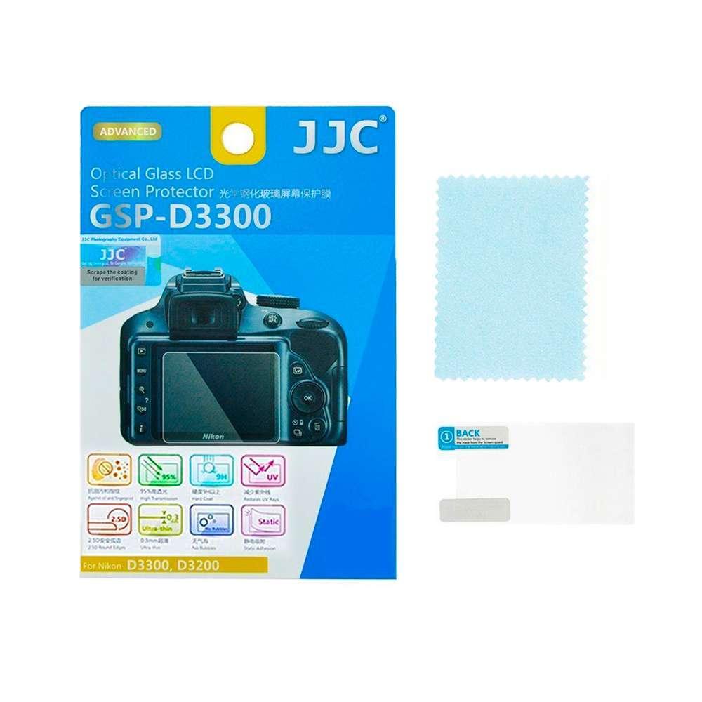 Protetor de Tela LCD GSP-D3300 JJC para Nikon D3300, D3200  - Fotolux