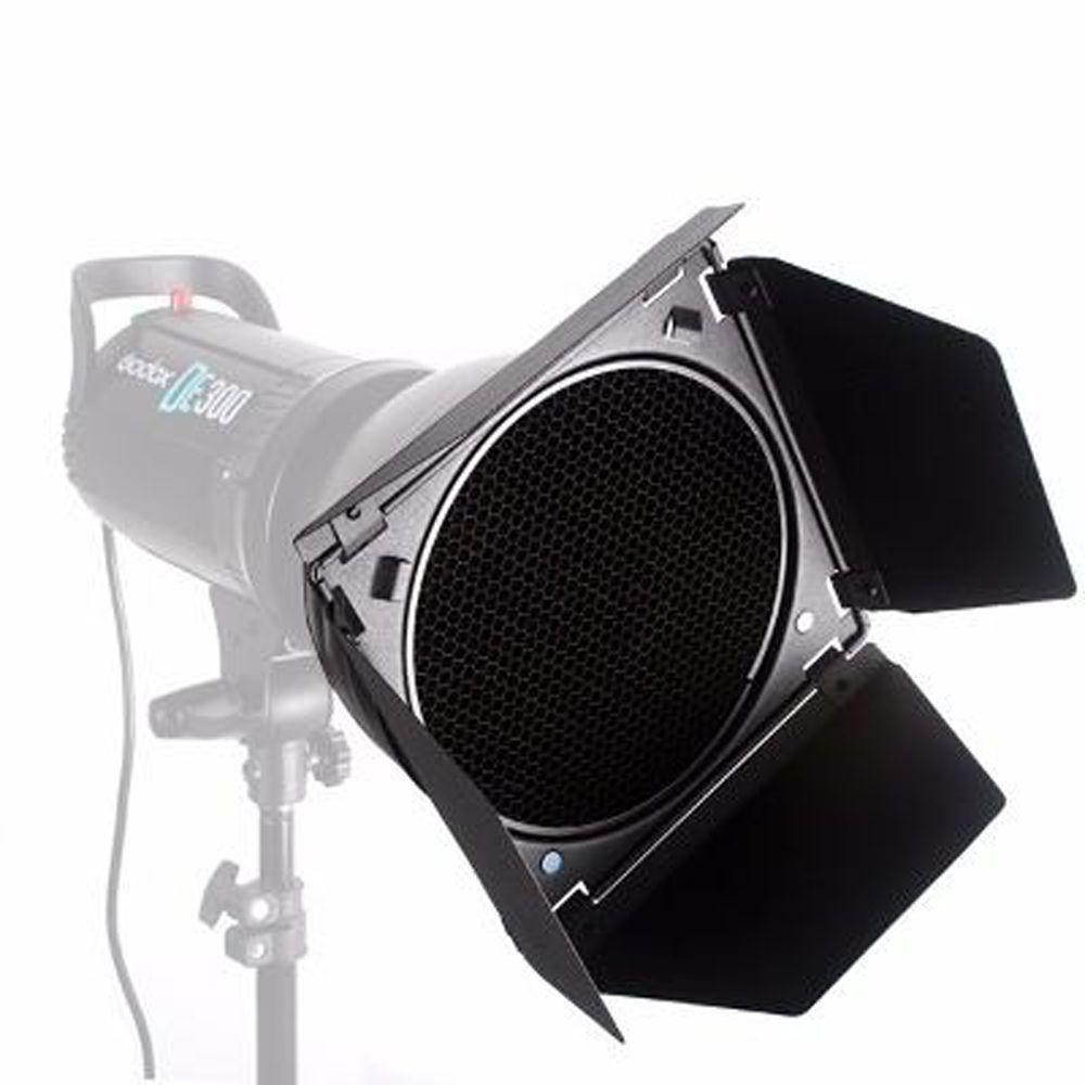 Rebatedor Barndoor com 4 Filtros Greika para Flash F300