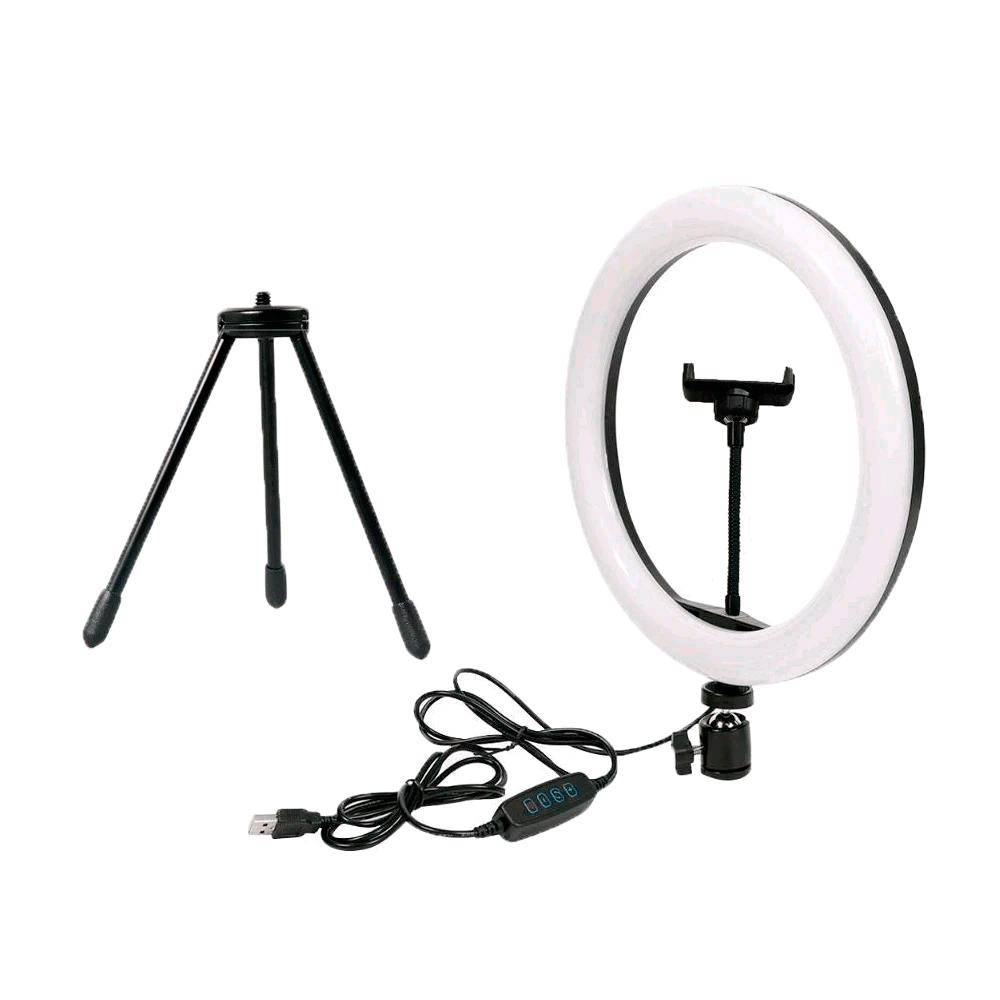 Ring Light 26cm com Microfone de Lapela BOYA BY-M1 para Gravação de Vídeo  - Fotolux