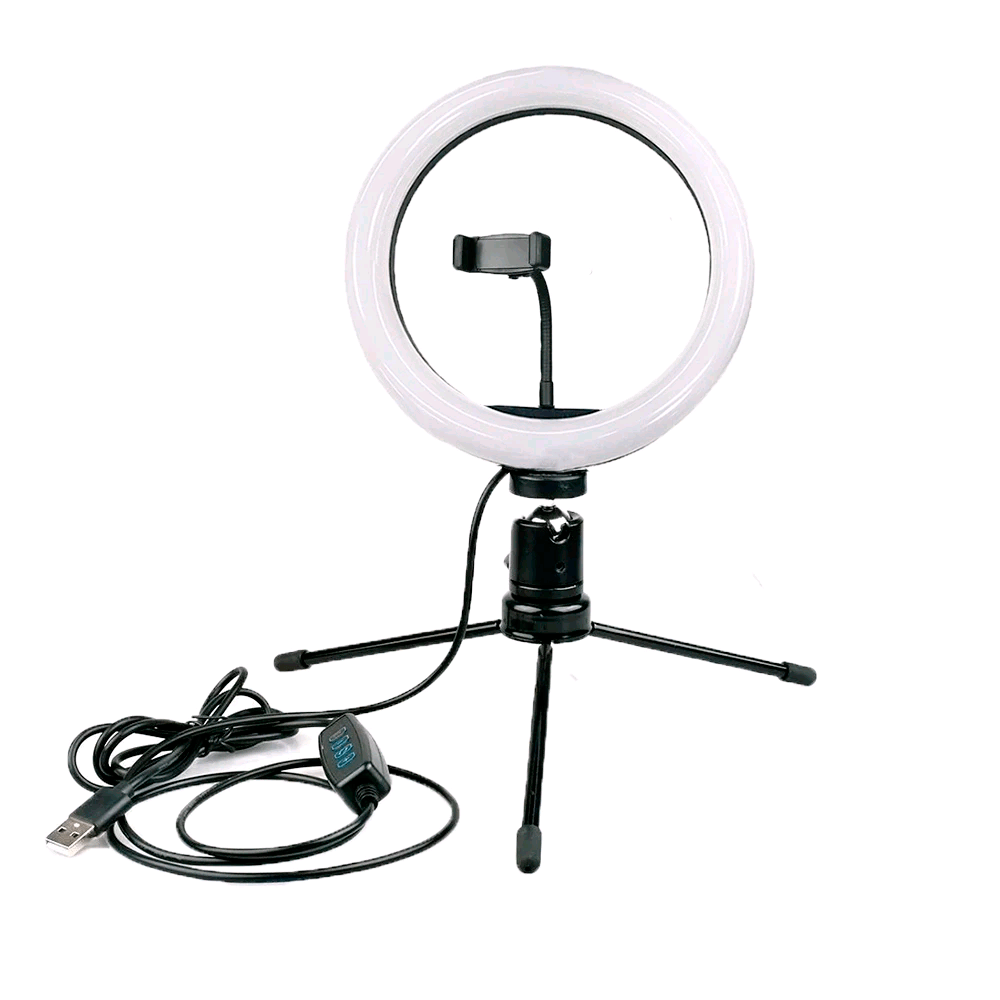 Ring Light 26cm com Tripé de Iluminação 2m para Fotos e Vídeos  - Fotolux