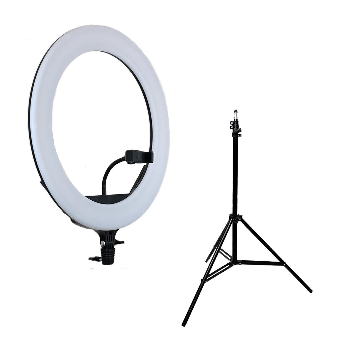 Ring Light 70W Iluminador de LED 44cm completo com Tripé 2m Luz para Foto e Vídeo  - Fotolux