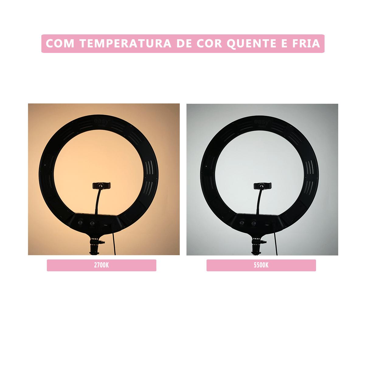 Ring Light 70W Iluminador de LED 44cm para Foto e Gravação de Vídeo (sem tripé)  - Fotolux