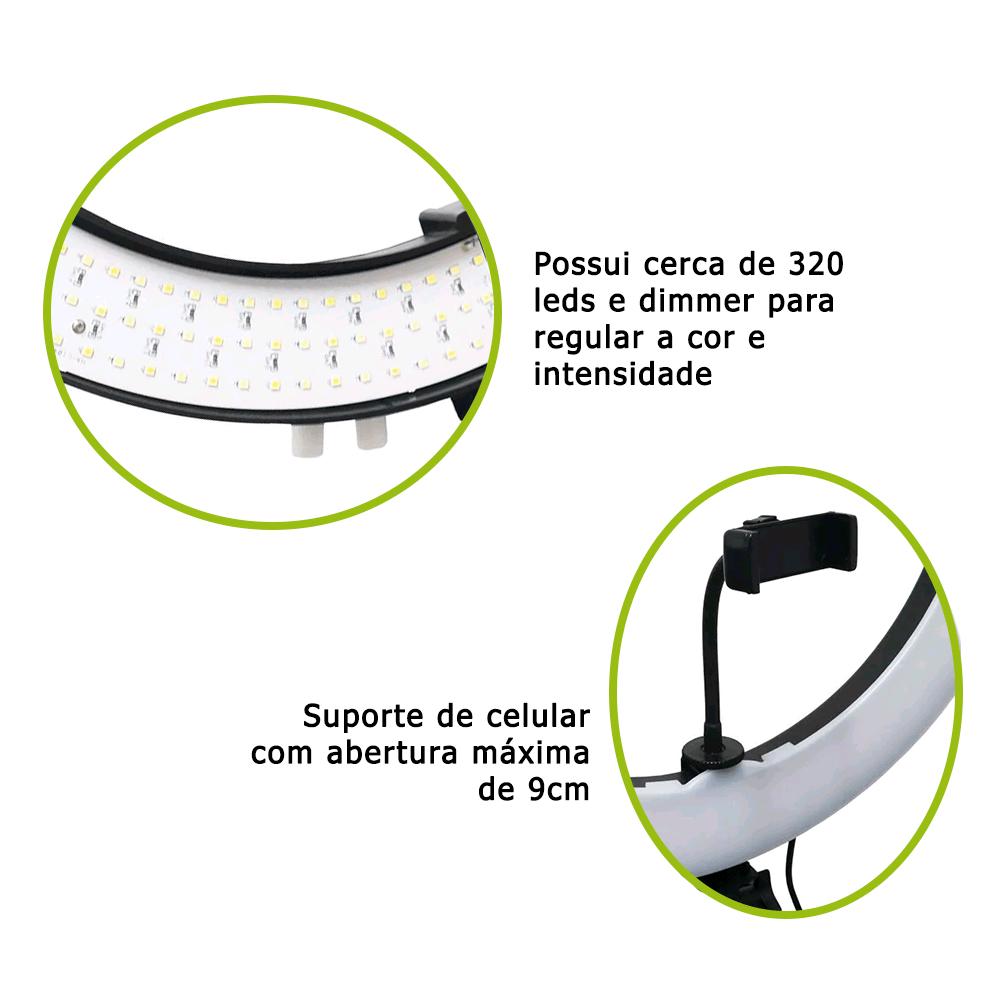 Ring Light 72W Iluminador de LED com 49cm Diâmetro para Fotos e Vídeo (sem tripé)  - Fotolux