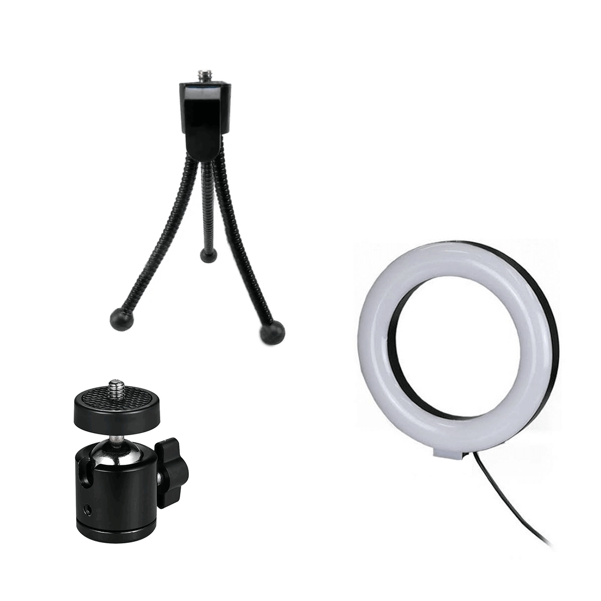 Ring Light de Mesa 16cm Luz de Led para Foto e Vídeo  - Fotolux