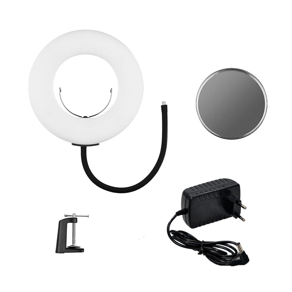 Ring Light de Mesa 24w com Espelho Iluminação para Fotos e Vídeos  - Fotolux
