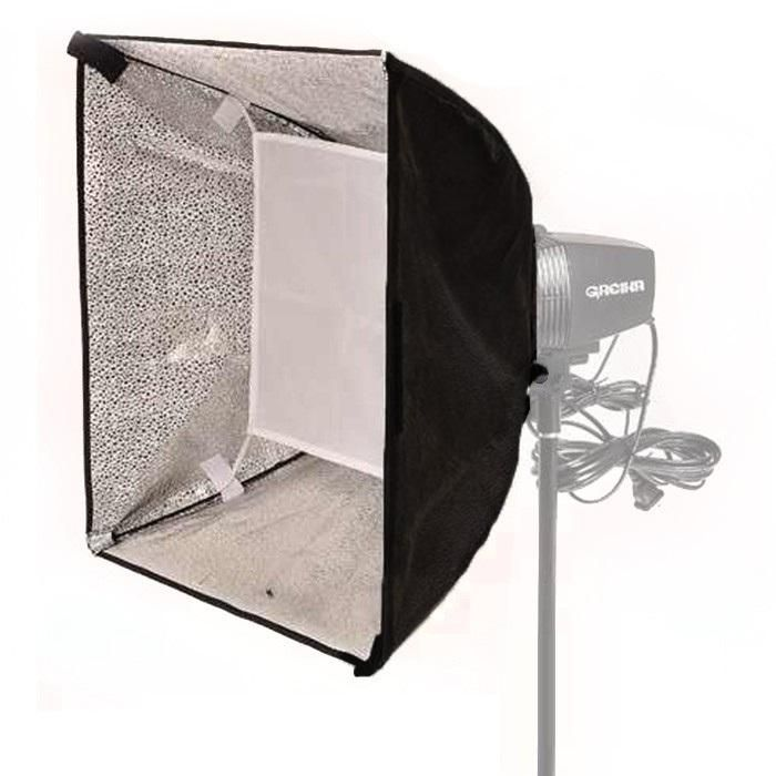 Softbox 45x45cm para Flash Greika K150 e 250DI  - Fotolux